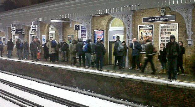 Hundreds of rail commuters spent a miserable night on abandoned train, an operator said