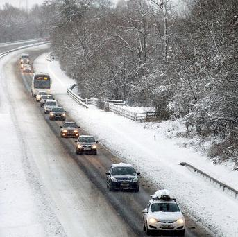 Primary schools are closed and travel has been disrupted by snow