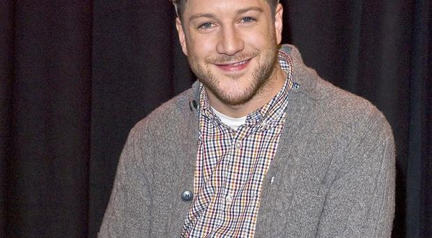 X Factor contestant Matt Cardle attended the secret gig, but couldn't sing