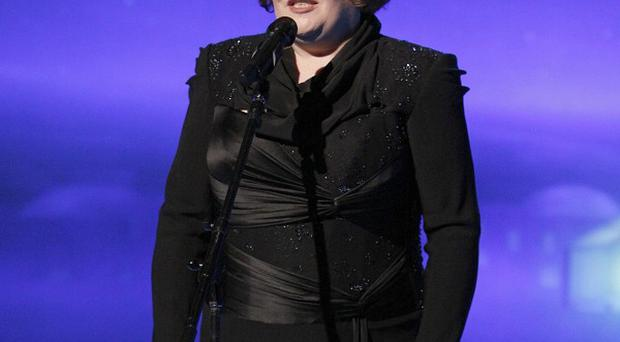 Susan Boyle will take on Lady Gaga and Katy Perry in a bid to bag a Grammy