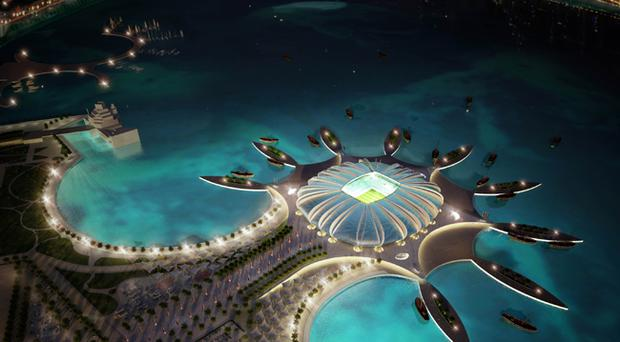 The Doha Port stadium is pictured in this artists impression