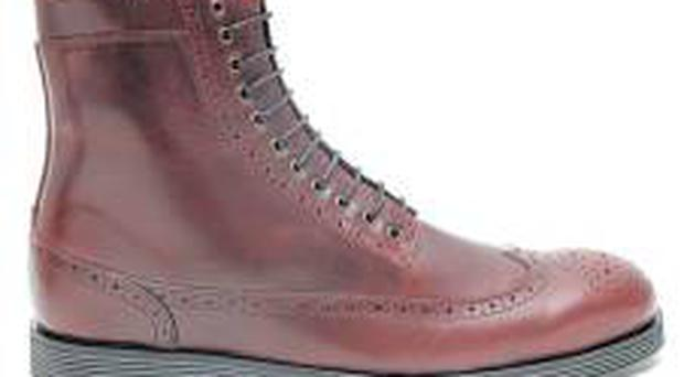 <i>Men's</i><br/> <b>Swear </b><br/> Swear tend to lead the way when it comes to the shoe market, with their modern take on fashion footwear. This oxblood brogue boot is a modern take on a much-copied classic. Wear with skinny denim for a Mod vibe. <br/> <b>Where</b> www.swear-london.com <br/> <b>How much </b>£105