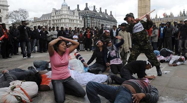 Tamil supporters' protests in London angered many in Sri Lanka
