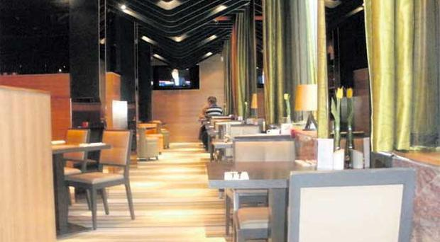 SOCIAL STANDING: The restaurant is modern but cosy and intimate