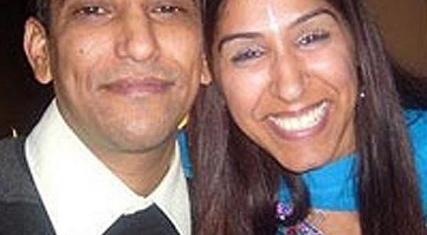 Geeta Aulakh, 28, with her husband Harpreet Aulakh