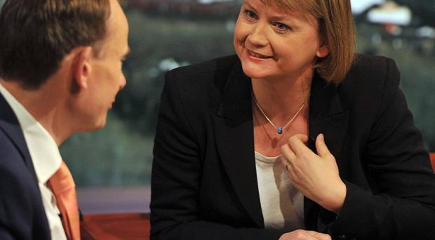 Shadow Foreign Secretary Yvette Cooper appearing on The Andrew Marr Show