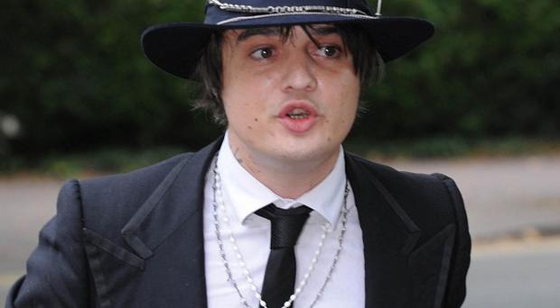Pete Doherty was in court facing a drug charge