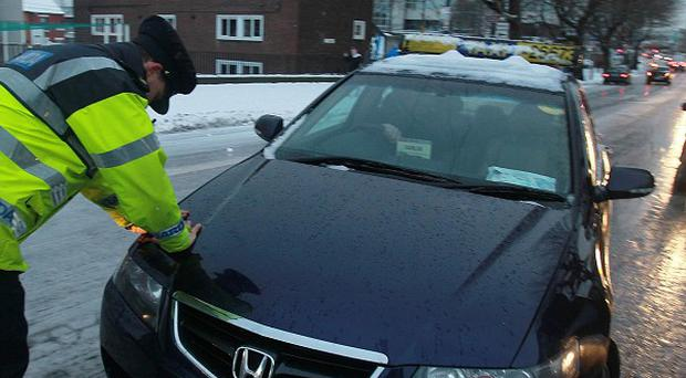 Commuters have been warned to take extra care on the roads amid the threat of black ice
