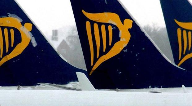 A Ryanair plane had to be evacuated when smoke entered the cabin shortly after landing in Austria