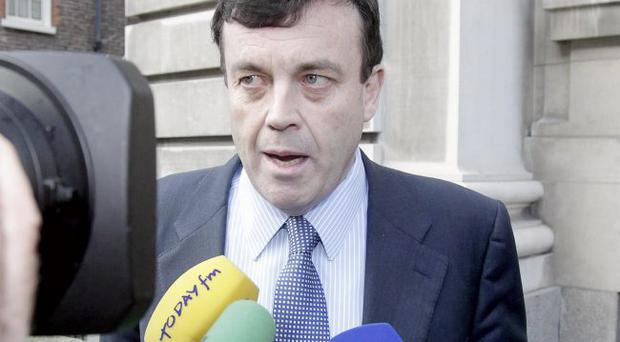 Brian Lenihan has accused opposition of scaring bank depositors