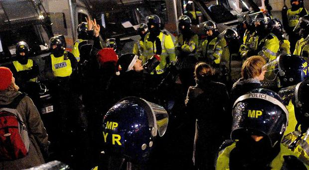 Police are warning that this week's anti-fees protests could be hijacked by 'violent youths'