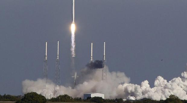 The SpaceX Falcon 9 rocket has returned safely to earth. (AP)