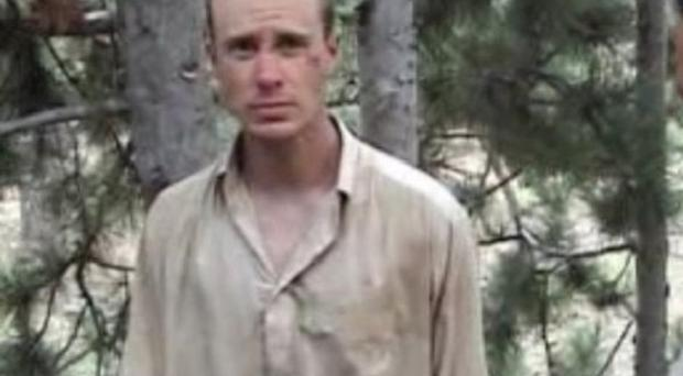 A man believed to be American soldier Bowe Bergdahl, the only known US serviceman being held in captivity in Afghanistan (IntelCenter)