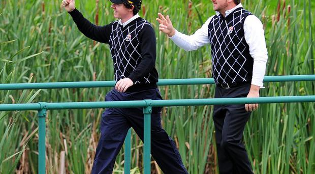 Rory McIlroy (left) and Graeme McDowell