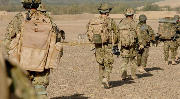 The Afghan army is 'on track' to take over security in the country by 2014, British commanders say
