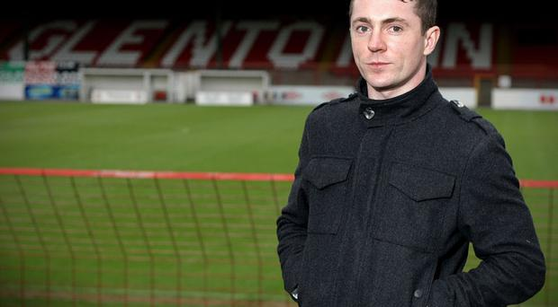 Matty Burrows pictured at The Oval. His goal is one of 10 shortlisted for the Ballon d'Or - Puskas Award.