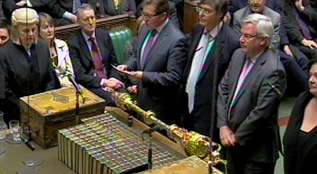 The result of the vote on raising the upper level of tuition fees is announced in the House of Commons