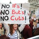 Students protest against tuition fees hike