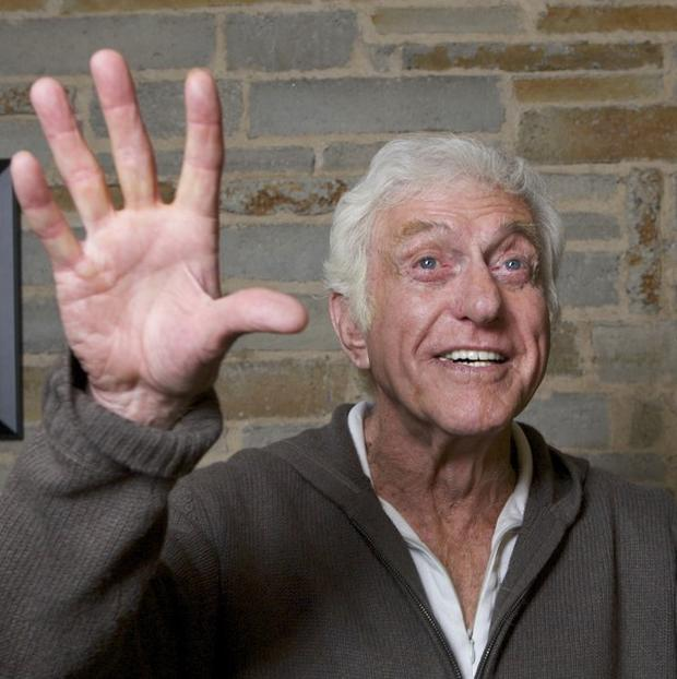 Dick Van Dyke during a rehearsal for his one-man show at the Geffen Playhouse in Los Angeles