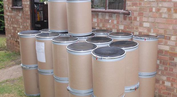 Drums of chemicals were recovered from the home of David Wain
