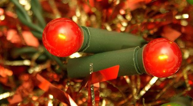 Families putting up the fairy lights this weekend have been urged to take safety precautions