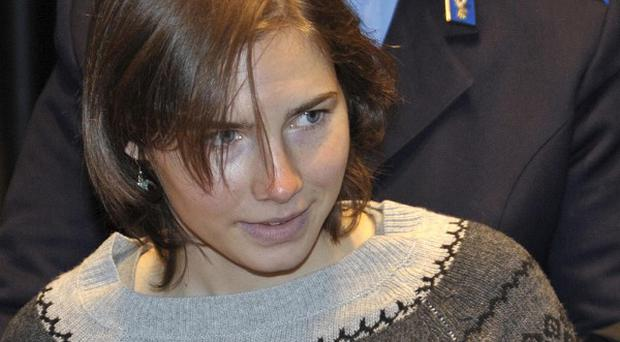 Amanda Knox arrives for an appeal hearing at Perugia's courthouse (AP)