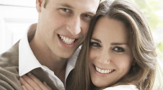 One of two official portrait photographs Prince William and Miss Catherine Middleton have chosen to release to mark their engagement