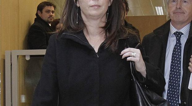 Gerry Ryan's partner Melanie Verwoerd leaves the inquest into his death at Dublin Coroner's Court