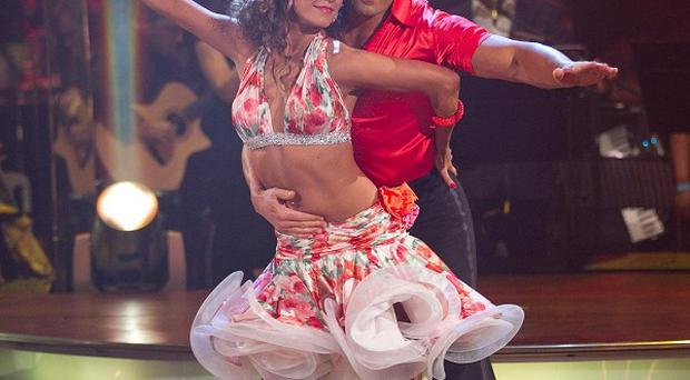 Gavin Henson and his dance partner Katya Virshilas dancing the Samba during the Strictly Come Dancing semi final show(Guy Levy/BBC/PA Wire)