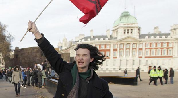 Charlie Gilmour, the son of Pink Floyd guitarist David Gilmour, has been bailed over his part in the student fees demo