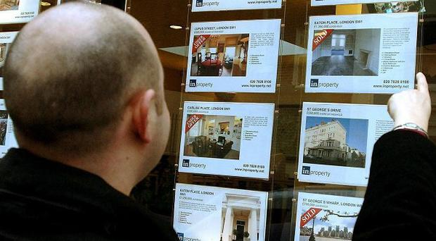 Property prices fell again last month as interest from buyers plunged for the sixth month in a row, research indicates