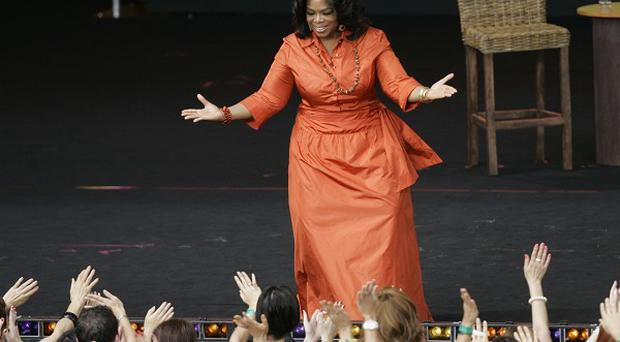 Oprah Winfrey at the filming of Oprah's Ultimate Australian Adventure in Sydney