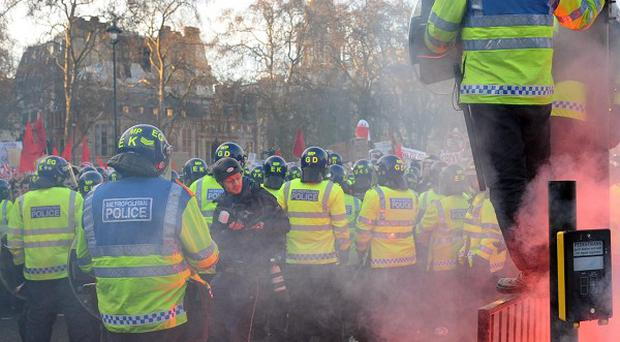 Police are braced for further protests against the planned tuition fee increases