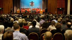 13.12.10. Picture by David Fitzgerald. Graduations yesterday from the University of Ulster in Jordanstown.
