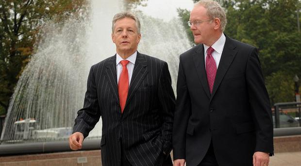 Martin McGuinness and Peter Robinson hailed the agreement as a 'first class budget'