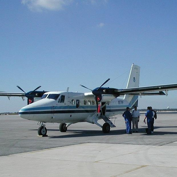 A Twin Otter plane similar to the one that is missing in Nepal (AP)