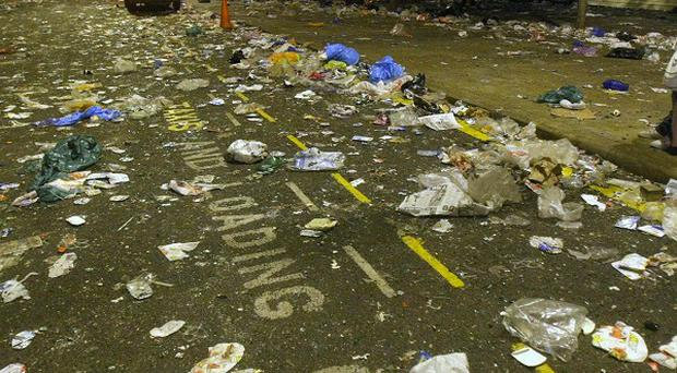 England's litter problem has not improved in the past year