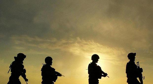 A Nato airstrike has killed four Afghan soldiers, an official said