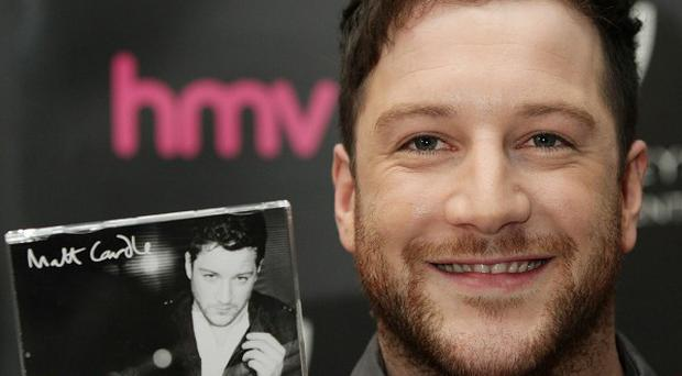 X Factor winner Matt Cardle during a signing session