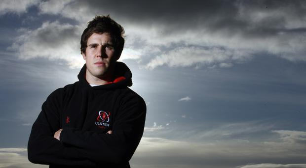 Press Eye - Belfast - Northern Ireland - 24 November 2010 - Picture by Kelvin Boyes / PressEye.comAdam D'Arcy pictured at a press conference to announce the Ulster Squad who will play Treviso on Friday 26th November at the Stadio di Mongio.