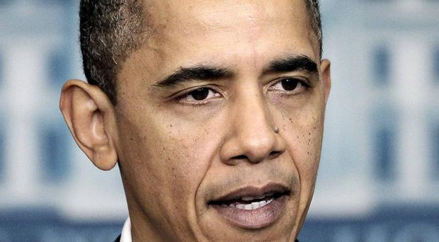 President Barack Obama said the US is on track in Afghanistan (AP)