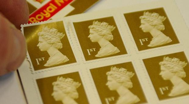The price of a first class stamp is to rise by 5p to 46p in April