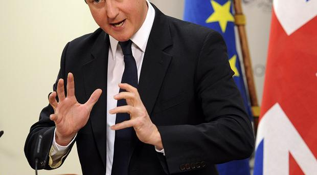 PM David Cameron is pressing for a real-terms EU budget freeze (AP)
