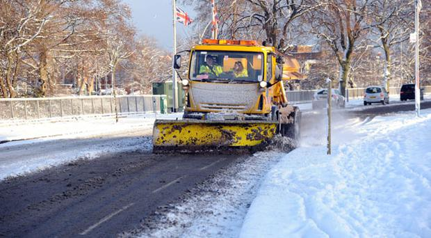 Northern Ireland gritting machines and snow ploughs