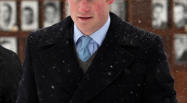 Prince Harry, during his visit to the Bernauer Strasse Berlin Wall Memorial