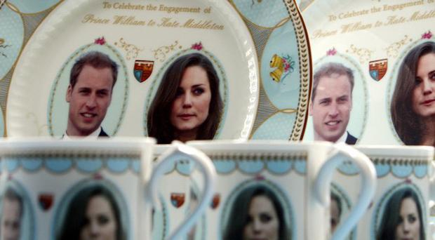 An official range of royal wedding china to mark the marriage of Prince William and Kate Middleton has gone on sale