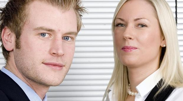 Chris Bates and Stella English, the finalists in this year's series of The Apprentice