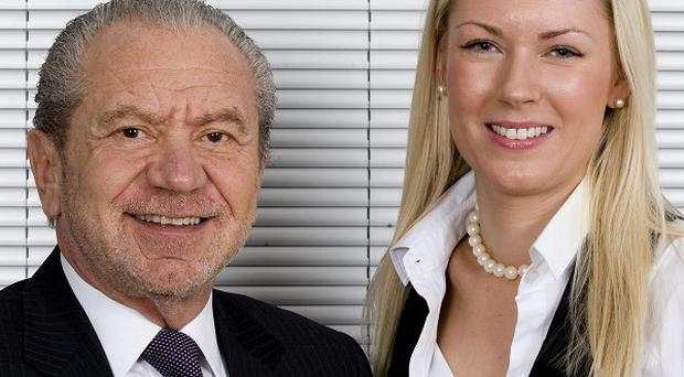 Lord Sugar and Stella English, the winner of the Apprentice 2010