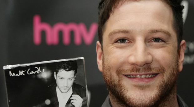X Factor winner Matt Cardle during a signing session at HMV Bayswater
