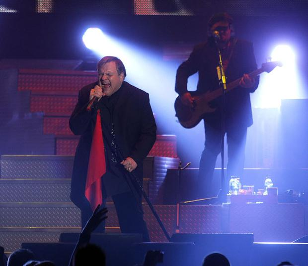 Meat Loaf performing in the Odyssey Arena, Belfast